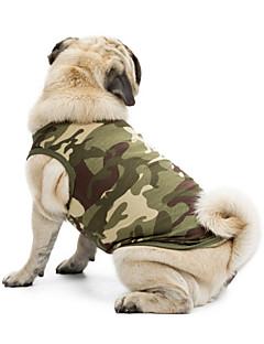 お買い得  犬用ウェア-ネコ 犬 Tシャツ スウェットシャツ ベスト 犬用ウェア カモフラージュ ブラック オレンジ グリーン ブルー ピンク コットン テリレン コスチューム ペット用 クラシック キュート カジュアル/普段着 ホリデー ファッション スポーツ