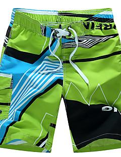billige Herrebukser-Herre Aktiv Boheme Plusstørrelser Bomuld Løstsiddende Shorts Bukser - Trykt mønster, Multi Farve