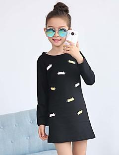 Mädchen T-Shirt Ausgehen Lässig/Alltäglich Urlaub Druck Baumwolle Frühling Herbst Lange Ärmel Normal