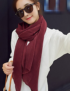 tanie Damskie szaliki-Unisex Moda miejska Prostokątne - Bawełna, Jendolity kolor