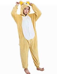 Kigurumi Pyjamas Bjørn Kostume Gul Cosplay Kostumer Trikot / Heldraktskostymer Cosplay Festival / høytid Pysjamas med dyremotiv Halloween