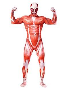 Super Heroes Soldier/Warrior Cosplay Costume Movie Cosplay Red Leotard/Onesie Zentai Catsuit Halloween Carnival New Year Spandex Spandex