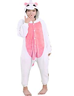 billige Kigurumi-Kigurumi-pysjamas Enhjørning Onesie-pysjamas Kostume Flanell Fleece Rosa Cosplay Til Pysjamas med dyremotiv Tegnefilm Halloween Festival