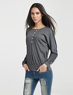 billige Plusstørrelser-Dame - Ensfarvet Gade Plusstørrelser T-shirt