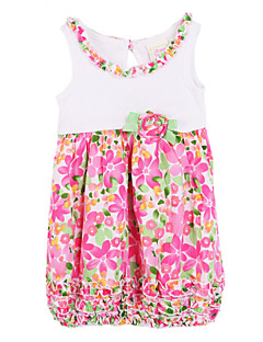 Baby Casual/Daily Floral Dress,Cotton Summer Red