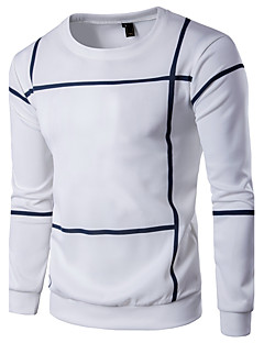 Men's Plus Size Daily Sports Casual Active Sweatshirt Striped Color Block Round Neck Micro-elastic Cotton Rayon Long Sleeve Spring Fall