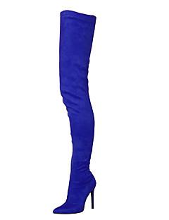 Χαμηλού Κόστους -Γυναικεία Παπούτσια Ύφασμα Χειμώνας Μοντέρνες μπότες / αδέξιος μπότες Μπότες Τακούνι Στιλέτο Μυτερή Μύτη Φερμουάρ Πράσινο / Μπλε / Μπορντώ