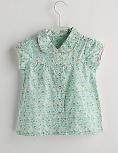 חולצה יום יומי\קז'ואל פרחוני כותנה-קיץ-תִינוֹק