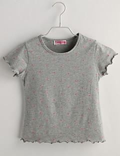 Baby Fritid/hverdag T-skjorte Polkadotter-Bomull-Sommer-Grå