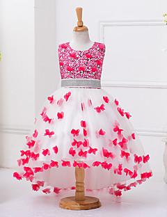 ieftine -rochie de bal rochie asimetrică rochie de mireasa - organza gât de bijuterie fără mâneci cu paiete de mii