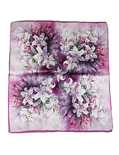 Women's Silk Square,Vintage Casual Print All Seasons Lavender