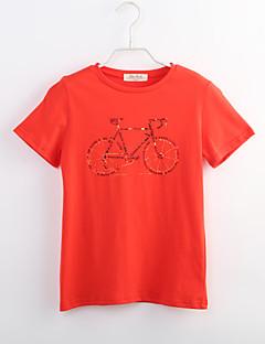 Poika Yhtenäinen T-paita Rento/arki Puuvilla Kesä Lyhythihainen