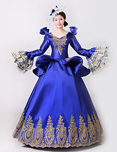 Prinsesse Gudinne Nisse drakter Cosplay Kostumer Kvinnelig Halloween Jul Karneval Nytt År Festival/høytid Halloween-kostymer Lilla Trykt