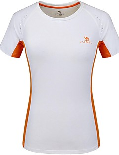 b0e55ee2a719ca Women s Hiking Tee shirt Outdoor Breathable Quick Dry Tee   T-shirt Top  Camping   Hiking Climbing Team Sports Orange+White