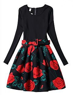 שמלה פוליאסטר אביב סתיו שרוול ארוך דפוס הילדה של