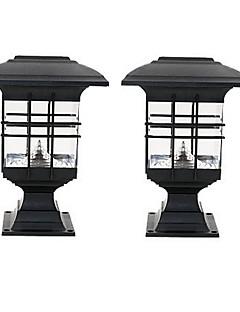 billige Lampestolper-0.5W plen Lights / LED Solcellebelysning Vanntett / Dekorativ / Lysstyring Kjølig hvit Utendørsbelysning