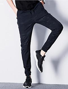billige Herrebukser og -shorts-Herre Aktiv Store størrelser Bomull Aktiv / Tynn / Chinos Bukser Kamuflasje / Sport