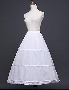 Wedding Special Occasion Slips Polyester Tea Length A Line Slip Ball Gown With