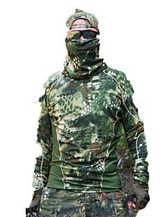 baratos Roupas de Caça-Camiseta de Caçador Homens Secagem Rápida Clássico Blusas Manga Longa para Caça / Alpinismo / Esportes Relaxantes