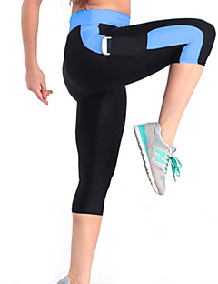 Mulheres Leggings de Corrida Leggings de Ginástica Respirável Materiais Leves Elástico Compressão Calças para Ioga Exercício e Atividade