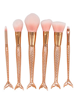 cheap Makeup Brushes-6pcs Professional Makeup Brushes Makeup Brush Set / Contour Brush / Foundation Brush Synthetic Hair Portable / Professional / Full