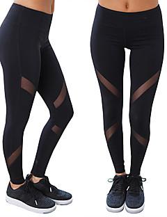 Mulheres Calças de Corrida Respirável Macio Confortável Elástico Meia-calça Calças para Ioga Exercício e Atividade Física Corrida Terylene