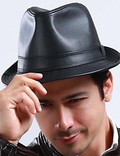 Erkek Günlük PU Tokalı Şapka,Kış Solid
