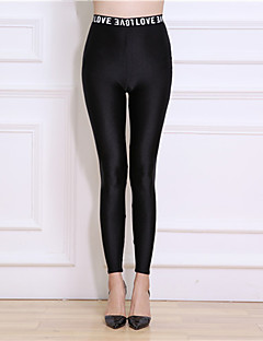 Women's Nylon Thin Solid Color Legging,Solid This Style is TRUE to SIZE.