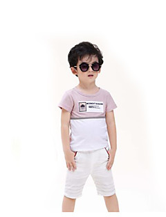 Girls' Daily Color Block Tee,Cotton Summer White