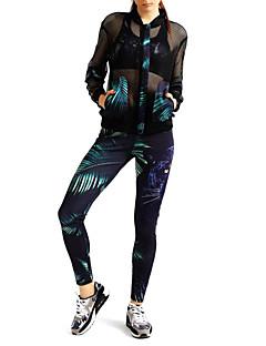 MIDUO Dames Trainingspak Lange mouw Ademend Zonbescherming Zonbeschermende kleding Legging Kleding Bovenlichaam voor Training&Fitness