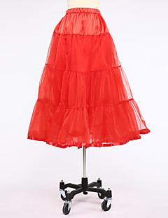 Unterhosen Abendkleid Wadenlänge 2 Satin Tüll Weiß Schwarz Rot