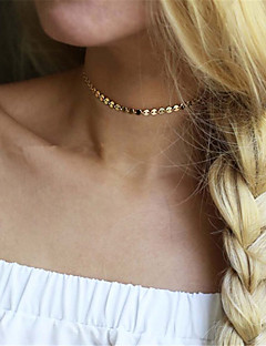 cheap -Women's Choker Necklace  -  Personalized Euramerican Fashion Single Strand Gold Silver Necklace For Party Special Occasion Daily