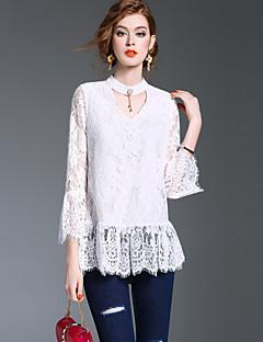 Majica s rukavima Ženske,Jednostavno Slatko Ulični šik Izlasci Formalno Rad Jednobojni-Dugih rukava V izrez-Proljeće Jesen Srednje