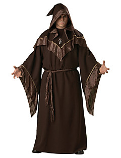 billige Halloweenkostymer-Trollmann Cosplay Kostumer Herre Halloween Karneval Festival / høytid Halloween-kostymer Drakter Mørkebrun Mote
