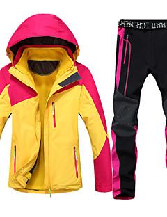 Mulheres Jaquetas 3-em-1 Ao ar livre Inverno Prova-de-Água Térmico/Quente A Prova de Vento Forro de Velocino Á Prova-de-Chuva Vestível