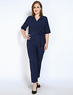Really Love Women's High Rise Jumpsuits,Vintage Simple Cute Straight Solid Spring Summer