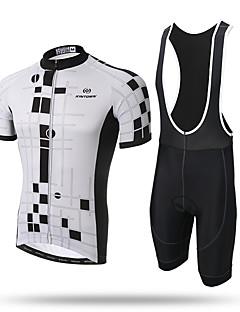 abordables -XINTOWN Maillot et Cuissard à Bretelles de Cyclisme Homme Manches Courtes Vélo Collant à Bretelles/Corsaire Bretelles Maillot Séchage