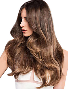 Păr Natural Păr Indian evidenþiat par Ondulat Tare Extensii de par 1 Bucată Căpșuni Blonde / Medium Auburn