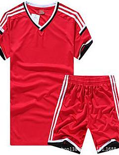 Homens Futebol Camisa + Bermuda Bib Respirável Primavera Verão Inverno Outono Clássico Poliéster Futebol
