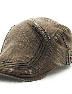 cheap Fashion Hats-Men's Cotton Beret Hat,Vintage Casual Solid Summer All Seasons Brown Black Beige Gray Army Green