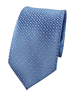 Men's Polyester Neck Tie,Party Work Casual Jacquard All Seasons Light Blue