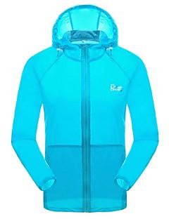 男性用 ハイキング Tシャツ アウトドア 防水 速乾性 抗紫外線 フロントファスナー 高通気性 軽量素材 サンスクリーン 日焼け防止ウェア トップス キャンピング&ハイキング 釣り ゴルフ