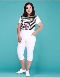 billige Nederdele og bukser til damer-Dame Skinny Chinos Bukser Ensfarvet Højtaljede