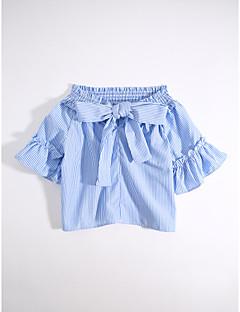 billige Barns Moteklær-Fritid/hverdag T-skjorte Stripet Bomull Sommer