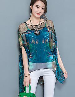 cheap Women's Tops-Women's Going out Street chic Blouse Layered Mesh Print