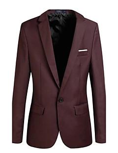 billige Herremote og klær-Tynn Blazer - Ensfarget Forretning Enkel Herre