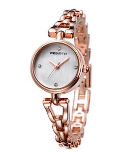 billige Høj kvalitet-REBIRTH Dame Japansk Quartz Armbåndsur Japansk / Legering Bånd Afslappet Mode Sølv Rose Guld
