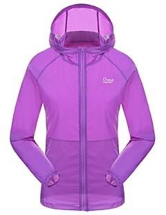 cheap Hiking Shirts-Women's Hiking T-shirt Outdoor Waterproof Quick Dry Ultraviolet Resistant Front Zipper Breathable Sunscreen Lightweight Materials