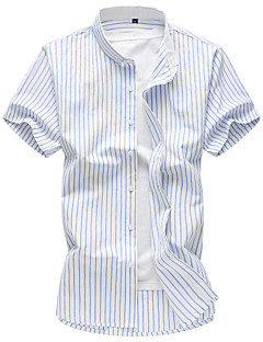 メンズ カジュアル/普段着 ビーチ 夏 シャツ,シンプル 活発的 シャツカラー フラワー コットン レーヨン 半袖 薄手