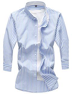 メンズ カジュアル/普段着 ビーチ 夏 シャツ,シンプル 活発的 シャツカラー フラワー コットン レーヨン 七部袖 薄手